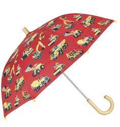 Regenschirm HEAVY DUTY in rot mit Lastern