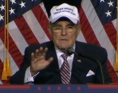 """Rudy Giuliani spoke before Donald Trump's immigration address in Phoenix Wednesday night. Giuliani was wearing a """"Make Mexico Great Again Also"""" hat. Pr ..."""