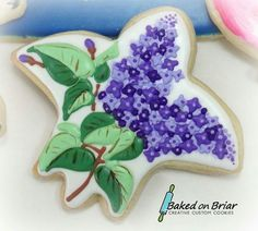 Lilac usind a fleur de lis cookie cutter by Baked on Briar. I love it!!