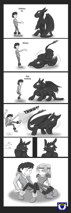 HTTYD : New Tricks by BlueSerenity.deviantart.com on @deviantART. Dude, this is AWESOME!!! ((Excepts that Hiccup should be missing his left leg, but whatever. XP))