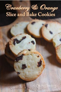 Eggless Cranberry & Orange Slice & Bake Cookies Recipe - Yummy Tummy