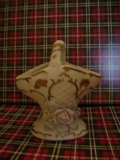 20% off with our Superbowl Special Vintage Ceramic Basket with Roses by dtriece on Etsy, $12.00