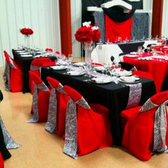 Red Black And Silver Wedding the Bride and Groom Red