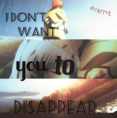 i don\'t want you to disappear  all i want is you to stay with me...