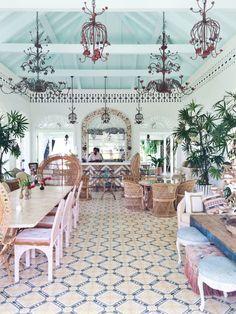 caribbean style clubhouse at playa grande beach club