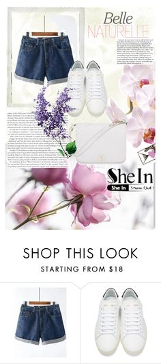 """""""SheIn contest"""" by sarah-malinu ❤ liked on Polyvore featuring Yves Saint Laurent, Furla and Polaroid"""