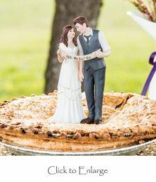 """We Did!"" Indie Style Bride & Groom Couple Wedding Cake Topper #wedding #caketop #daisydays"