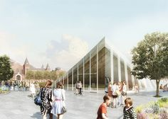 Bjarke Ingels (BIG) unveils radical plans for the Smithsonian revamp in Washington DC. This ultra-modern entry has glass, metal and stone pieces.