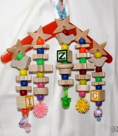 This is a bird toy!  Can you believe it?!  And amazing price!  Boomerang by CrackedEggBirdToys on Etsy, $13.99