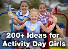 Ideas for LDS Primary Activity Days Pin now, read later. Adapt to YW or Joint Mutual