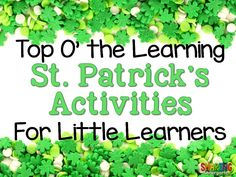 We know   March 17th is coming. And we know our little learners are getting more and more excited  about St. Patrick's Day. So let's embrace their excitement… harness it… and use it for the greater good. Let's talk about ways to make Saint Patrick's Day more fun and engaging in your classroom.Get ready… this […]