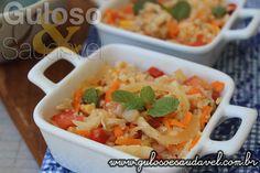 Receita de Salada de Couve Flor e Cogumelos