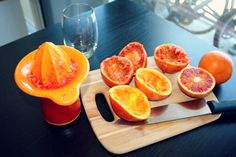 Blood orange in the making