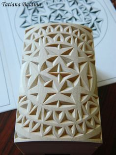"""Chip carving. The picture of the process while working on the """"Morning color"""" box."""