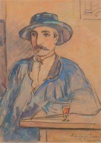 Portrait du poète Durocher, Emile Alfred Dezaunay