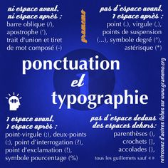 Ponctuation et Dactylographie How To Teach Grammar, Teaching Grammar, Teaching Tips, French Expressions, French Words, French Quotes, French Grammar, Kids Study, Visual Dictionary