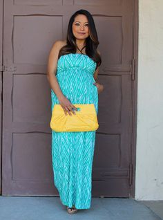 The Green Jacqueline Maxi Dress from Heritwine Maternity
