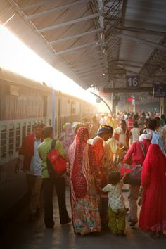 Train station, Dehli, India