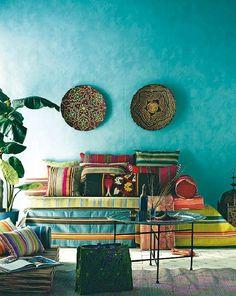 Brigh, ethnic living room by Bri Emery design.