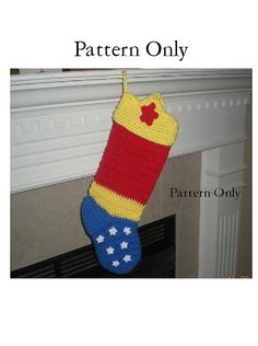 Pattern Only Wonder Woman Stocking Pattern by TheCreativeMandM