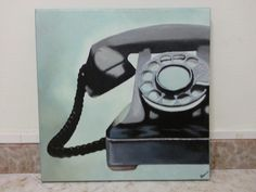 Phone; tecnica mista su tela