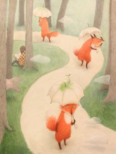 Illustration by Ayano Imai Fox Art, Children's Book Illustration, Whimsical Art, Illustrations Posters, Cute Art, Collages, Illustrators, Art Drawings, Artwork
