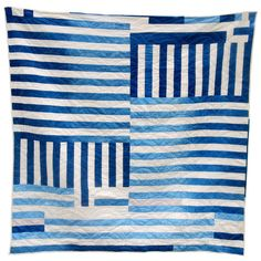 Incredible Quilts by Folk Fibers blue stripe