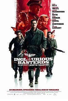 Inglourious Basterds (2009)  Directed by Quentin Tarantino.  Starring Brad Pitt, Diane Kruger, Eli Roth, Melanie Laurent, Christopher Waltz, Diane Kruger and Michael Fassbender. Arriverderci.