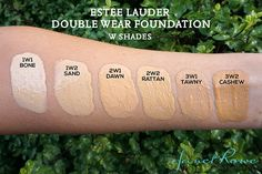 Estee Lauder Double Wear Foundation Swatches