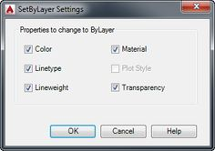 SETBYLAYER command: Quickly change all object properties to ByLayer