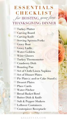 Elegant Thanksgiving Table Decorations & A Hostess Checklist