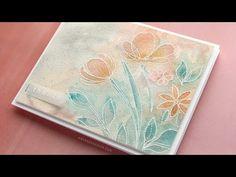Soft Watercolor with Heat Embossed Flowers - YouTube