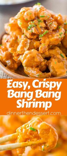 Bang Bang Shrimp from the Bonefish Grill is crispy, creamy, sweet and spicy with. Bang Bang Shrimp from the Bonefish Grill is crispy, creamy, sweet and spicy with just a few ingredients and tastes just like the most popular appetizer on the menu. Asian Recipes, Healthy Recipes, Chinese Shrimp Recipes, Chicken And Shrimp Recipes, Cooked Shrimp Recipes, Spicy Food Recipes, Shrimp Sauce Recipes, Chilis Copycat Recipes, Air Fryer Recipes Shrimp