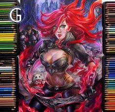 Katarina, Blondynki Też Grają on ArtStation at https://www.artstation.com/artwork/22ARa