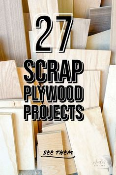 Simple DIY Scrap plywood project ideas that you can make today. Easy woodworking project ideas for beginners using scrap wood. #anikasdiylife Diy Projects Using Wood, Plywood Projects, Scrap Wood Projects, Diy Home Decor Projects, Diy Craft Projects, Furniture Projects, Project Ideas, Outdoor Projects, Diy Furniture