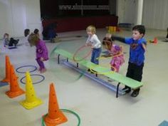 Eltern-Kind-Turnen J. Pe Activities, Gross Motor Activities, Gross Motor Skills, Indoor Activities, Physical Activities, Preschool Activities, Physical Development, Physical Education, Gym Games