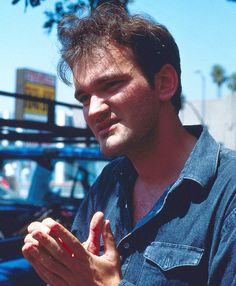 Quentin Tarantino on the set of Reservoir Dogs (1992)