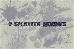 Ink Splatter Paint 28 - Download  Photoshop brush http://www.123freebrushes.com/ink-splatter-paint-28/ , Published in #GrungeSplatter. More Free Grunge & Splatter Brushes, http://www.123freebrushes.com/free-brushes/grunge-splatter/ | #123freebrushes