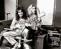 Eddie and David xx Rock N Roll Music, Rock And Roll, Muse Music, Red Rocker, David Lee Roth, I Will Fight, Good Music, Amazing Music, Eddie Van Halen