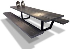 handmade picnic tables • cassecroute • wood and aluminium