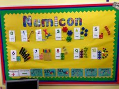 Numicon display Maths Classroom Displays, Preschool Displays, Teaching Displays, Eyfs Classroom, Classroom Ideas, Maths Working Wall, Math Wall, Early Years Maths, Early Math