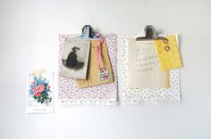 DIY: Fabric clipboards