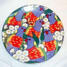 Rainbow Lorikeets Plate by Barbara Swarbrick - Australian Fine China 1993 Need this one for the set Australian Gifts, Fine China, Rainbow, Plates, Illustration, Ebay, Heart, Design, Rain Bow