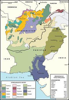 Afghanistan and Pakistan Ethnic Groups