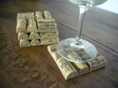 im feeling a wine cork craft night now.......Wine Cork Coasters by WineCountryCrafters on Etsy @Jacqueline Rathburn