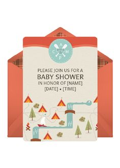 Beautiful Camp. Camping Baby ShowersIdeas Baby ShowersThemed ...