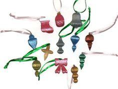 Miniature 3D Ornaments  Set of 12 by KentsKrafts on Etsy