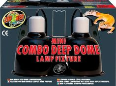 Zoo Med Mini Combo Deep Dome Lamp Fixture Black New