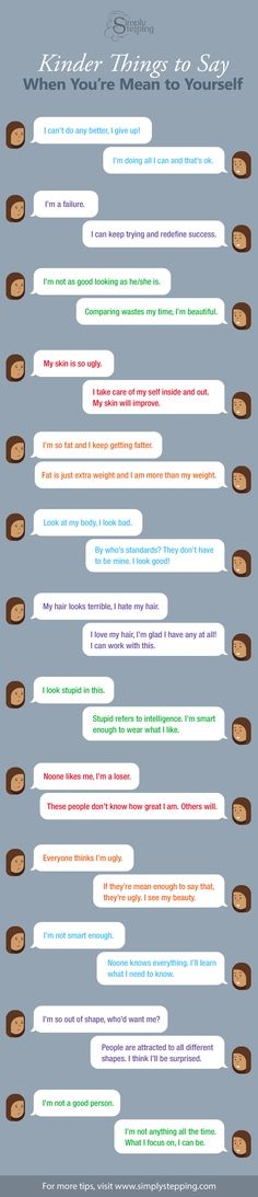 More Positive Ways of Talking to Yourself