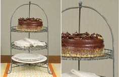 Amazingly functional is this 3 tier stand that doubles as a 3 tier cake stand! Use this tiered serving stand not only for serving but also as the perfect craft supplies organizer! For more visit, www.decorsteals.com OR www.facebook.com/decorsteals